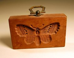 BUTTERFLY BUTTER mold pictures | Butterfly Wood Butter Mold