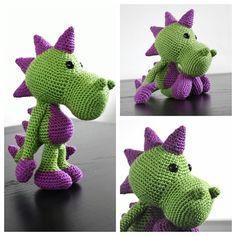 Puff the Dragon! #amigurumi #crochet #craft #dragon #puff #stuffedanimals #doll #collage #cool #sweet #nice #like #happy #knuffelpop