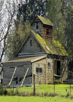 It appears this old barn needs a couple of props to hold it up.