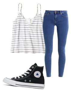 """Untitled"" by folieapanic ❤ liked on Polyvore featuring Hollister Co., Converse and even&odd"
