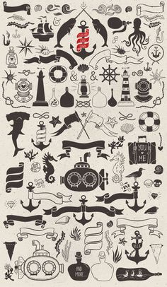 Nautical romantic vector pack - Illustrations - 2