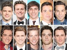 Handsome men of Broadway! Jeremy Jordan, Jonathon Groff, Derek Klena, Skylar Astin, Aaron Tveit, and Corey Cott are some of my favorites!