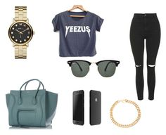"""""""Untitled #17"""" by manugeral on Polyvore featuring CÉLINE, Ray-Ban, Topshop, Marc by Marc Jacobs and Alessandra Rich"""