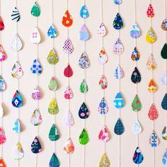 Drops ornament *カラフルさん*(しずくガーランド)|ガーランド|KOTORI|ハンドメイド通販・販売のCreema