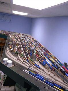 Big Conrail yard, that is huge! I wish I had the room. but I hope there is more to the layout than just track and yard.