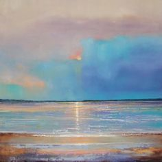 July 20 Serene Sea Original Oil Painting 18x18, painting by artist Toni Grote