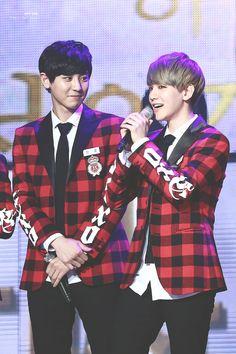 Baekhyun, Chanyeol - 140123 23rd High1 Seoul Music Awards Credit: Puppy Store. (제23회 하이원 서울가요대상)