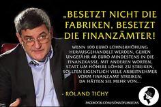 Geistreich wie immer. Roland Tichy in seinem Block. Mit freundlichen Grüßen #www.MyGoldshop.eu