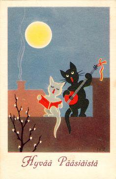 INGRID HAGSTRÖM-BADE - 106951943635258866150 - Picasa-verkkoalbumit Kitty, Album, Painting, Art, Picasa, Cuddle Cat, Art Background, Kitten, Painting Art