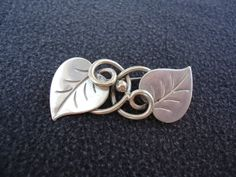 Georg Jensen Sterling Silver Leaf Brooch