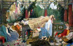 В.М. Васнецов. Спящая царевна. 1926 г. Х., м.