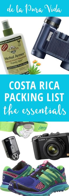 A list of time-tested items to bring that will make your trip and life in Costa Rica more enjoyable, like the most effective bug spray, and more!