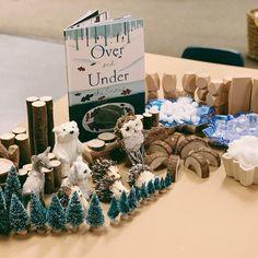 Invitation to Build Over and Under The Snow// Forest School Activities, Snow Activities, Literacy Activities, Preschool Activities, Preschool Learning, In Kindergarten, Preschool Crafts, Snow Theme, Winter Theme