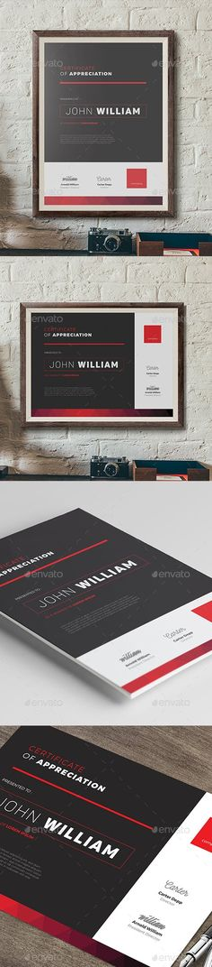 Modern Certificate by aarleykaiven Stationery Printing, Stationery Templates, Stationery Design, Print Templates, Branding Design, Certificate Layout, Certificate Design Template, Latest Fonts, Letterhead Template