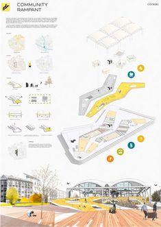 Concept Board Architecture, Architecture Presentation Board, Architecture Student, Architecture Portfolio, Architecture Plan, Architecture Diagrams, Drawing Architecture, Architecture Details, Landscape Architecture