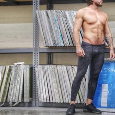 Men's WEB Design Full Length Compression Pant