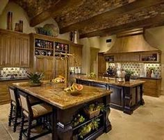 love it... like the ceiling, love the double island... would change the backsplash