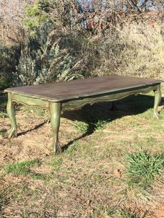 Vintage Painted Coffee Table Rustic Chippy Paint Distressed Primitive Boho Unique Custom Old World Farmhouse Claw Foot Table Living Room by RustiqueReInVintage on Etsy https://www.etsy.com/listing/274366838/vintage-painted-coffee-table-rustic