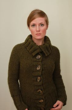 Sedum Cardigan Top Down Seed Stitch Sweater Knitting Pattern PDF. $5.50, via Etsy.