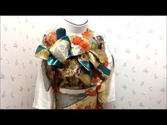 振袖の帯結び/辻が花 - YouTube Sash Belts, Yukata, Traditional Outfits, Pattern Design, Wedding Inspiration, Japanese, Costumes, Womens Fashion, Youtube