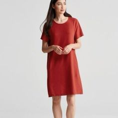 NWT $198 Eileen Fisher Off the Shoulder Shift Dress S, XL