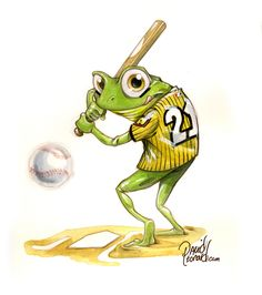 """Illustration by DAVID LEONARD """"Let's Go Rangers!"""" Funny Frogs, Cute Frogs, Dungeons And Dragons Races, Character Art, Character Design, Frog Illustration, Frog Drawing, Frog Pictures, Frog Art"""