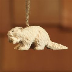 Carved Wood Ornament - Beaver (Set/4) Dimensions (in):Length: 3.75 in, Width: 1.25 in, Height: 1.5 inBy HomArt - HomArt is a wholesale manufacturer of distinctive home furnishings products.Ships withi