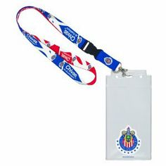 """Chivas De Guadalajara Credential Holder by WinCraft. $12.24. Made in USA & China. 2 sided imprint. Vibrant Colors. Perfect for the #1 fan. This vinyl 4 1/4"""" x 8 1/2"""" has clear frosted front, with full color graphics printed on the inside of the ticket holder. The Holder is offer with a break away lanyard. Made in the USA."""