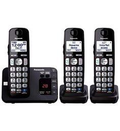 PANASONIC KX-TGE233B DECT 6.0, Expandable Cordless Phone, Ans. Syst, TCID, CWCID…