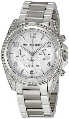 Michael Kors Quartz, Silver Dial with Stainless Steel Band - Womens Watch MK5165... Yes please