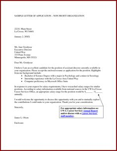 Cover Letter Non Profit Management Perfecting The Executive Assistant Cover Letter