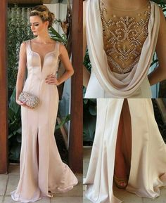 Prom Dress Fitted, Prom Dresses, 2018 Sleeveless Pearl-Pink Split Elegant Beadings Evening Dress There are delicate lace prom dresses with sleeves, dazzling sequin ball gowns, and opulently beaded mermaid dresses. Split Prom Dresses, Straps Prom Dresses, Best Prom Dresses, Beaded Prom Dress, Mermaid Prom Dresses, Homecoming Dresses, Dress Prom, Dresses 2016, Prom Gowns