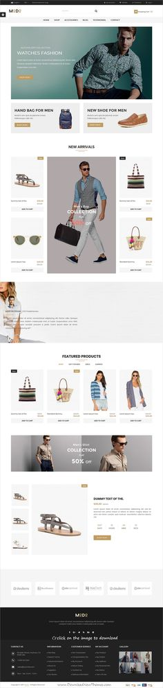 Modo is clean and modern design 4in1 responsive #prestashop theme for stunning #fashion store #eCommerce website to download click on image.