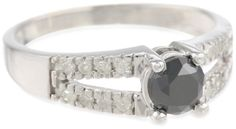 @blackdiamondgem 10k White Gold Split Shank Black and White Diamond Ring (1 cttw), Size 7 by Amazon Curated Collection - See more at: http://blackdiamondgemstone.com/jewelry/rings/10k-white-gold-split-shank-black-and-white-diamond-ring-1-cttw-size-7-com/#!prettyPhoto