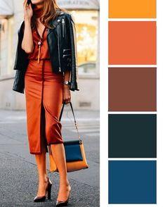 Colour Combinations Fashion, Color Combinations For Clothes, Color Blocking Outfits, Fashion Colours, Colorful Fashion, Color Combos, Deep Autumn, Warm Autumn, Wardrobe Color Guide