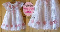 Como tejer un Precioso vestido para niñas a crochet