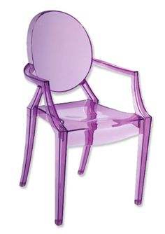 This perspex chair is fun and funky! #hotlooks