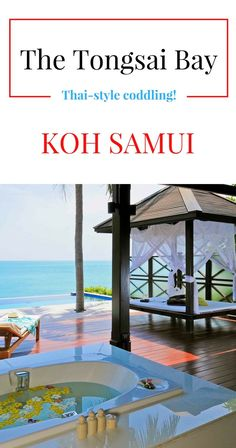 """A beautiful private beach. Villas with private pools and beachfront suites. And delicious fruit smoothies made by the resort's famous """"fruit lady."""" We loved The Tongsai Bay on Koh Samui, Thailand! See our Tongsai Bay review..."""