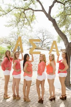 Cuties with letters :) Alpha Omicron Pi, Alpha Sigma Alpha, Gamma Phi, Classy Girl, Sorority Recruitment, Heavenly, Photo Shoot, Greek, Pearl