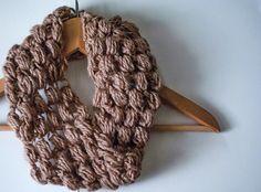 puff stitch crocheted cowl