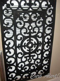How to disguise a Return Air Vent for $20 via //tamicurbalert.blogspot.com & Repurposed door mat to cover and ugly wall vent - Debbiedoou0027s | Air ...