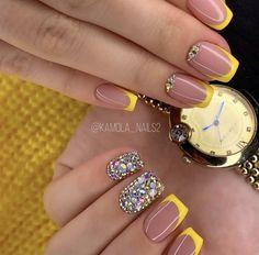 Mani Pedi, Finger, Hair Beauty, Nail Polish, Nail Art, Nails, Autumn, Yellow Nails, Glue On Nails