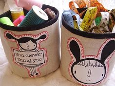 Bucket Tutorial - a straightforward project and you get to organise your new supplies