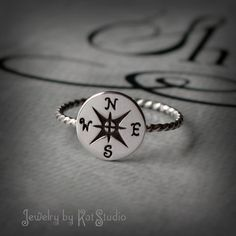 Hey, I found this really awesome Etsy listing at http://www.etsy.com/listing/176282533/compass-ring-silver-compass-nautical