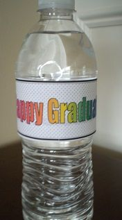 Free printable #Graduation label for water bottles, perfect for your graduation celebration