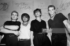Echo and the Bunnymen backstage at Tuts nightclub, Chicago, Illinois, April 11, 1981.