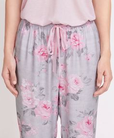 Floral print grey pants - New In.