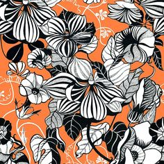 Graphic Flowers available exclusively on our Online Textile Design Studio