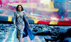Valkyrie, casually strolling into battle with fireworks exploding behind her. What a badass. ✨