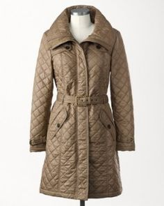 Fashion For This Winter: City Strolls Quilted Women's Winter Coat. It's sleek, simple, single breasted cut will balance and flatter your figure.